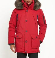 Mens Red Aviator Down Parka IDRIS ELBA for SUPERDRY - sz S  RRP £360
