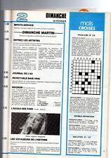 SHEILA TELE PROGRAMME N°128