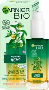 Garnier Face Night Oil Soothes Nourishes Bio Hydrates Repair Hemp Anti Age 30ml