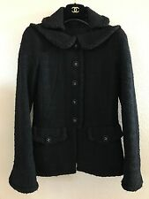 CHANEL 13B 8K HAUTE COUTURE BLACK FANTASY TWEED BRAIDED JACKET BLAZER 36/38, NEW