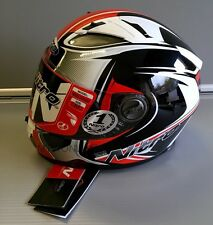 Motorcycle Sporty Full Face Helmet Nitro Cypher Black/Red/White 2 XL - XXL