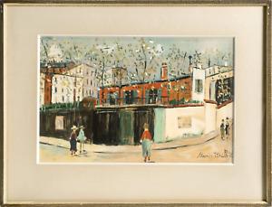 Maurice Utrillo, Sur la Route de Village from Douze Contemporains, Lithograph wi
