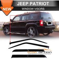 For 07-16 Jeep Patriot Acrylic Window Visors 4Pc Set