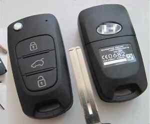 Hyundai iX20 iX35 i20 i30 i35 Elantra Flip Remote Key Shell Case replacement