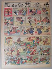 Mickey Mouse Sunday Page by Walt Disney from 9/23/1945 Tabloid Page Size