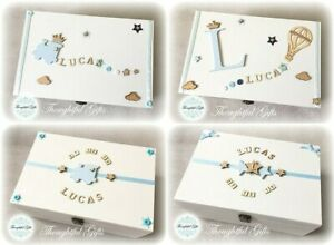 ⭐️🌟Baby Boys Large/ XL Personalised Wooden Memory Keepsake Box Christening Gift