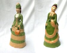 Vintage Marti of California Lady In Green Dress Figurines 517 and 617