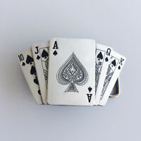 Royal Flush Spade Casino Lighter Belt Buckle Gurtelschnalle Boucle de ceinture