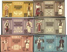 Rumanía 1738B-1749B (edición completa) banda de tres usado 1958 trajes regionale