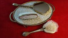 Regent of London Vintage Dressing Table Vanity Set Gold Brocade and Gilt 1930's