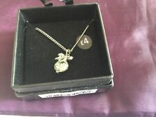 Ladies Necklace Silver Chain Necklace with Bow Pendant BNWT £4 NEW In Box