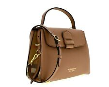 Burberry Camberley Derby House Check Tote Shoulder Bag Brown New