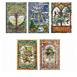 Static Window Film Translucent Frosted Stained Glass Sticker Privacy Easy Fitted