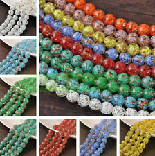 12~20mm Big Round Lampwork Glass Charms Loose Spacer Beads Jewelry Findings