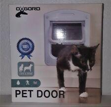 New Dog Cat Pet Door Oxgord 9� X 8� Clear 4 Way Locking Door Easy install