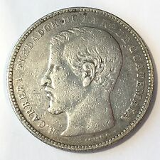 1866 Guatemala One Peso Silver Coin - High Quality Scans #D019