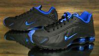 Nike Shox R4 Black Royal Blue 104265-053 Running Shoes Men's Size 9 NEW