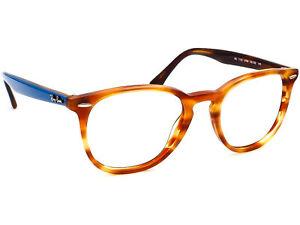Ray Ban Eyeglasses RB 7159 5759 Tortoise/Blue Round Frame 52[]20 145