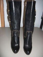 Frye Heidi Buckle Black Leather, Size- 9.5 (M), Full Zipper
