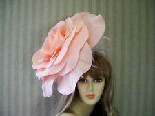 "Peach Rose Fascinator 16"" , Wedding Hat, Garden Tea, Halloween, Kentucky Derby"