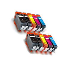 10 PK Ink Cartridges Combo + LED chip for 225 226 Pixma MG5120 MG5220 MG5320
