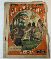 1910 pulp ~ ALL AROUND WEEKLY #39 ~ India cover