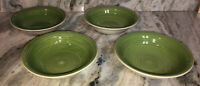 "Royal Norfolk 7 1/2""Soup Cereal Bowls Set Of 4 Green Swirl(New)SHIP24H VERY RARE"