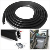 5M Black Automobiles Door Protector Edge Trim Sealing Strip Rubber Weatherstrip