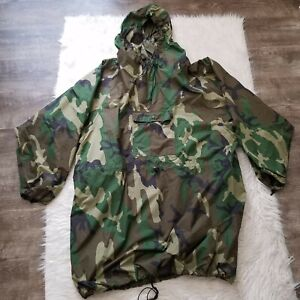 Wiggy's Cagoule Poncho Rainproof Hunting Jacket Rain Gear Covers You & Pack Sz L