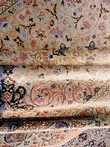 Exceptional Antique Super Fine 100% Silk Pershian Ghome Rug 10 X 7