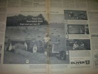 """VINTAGE  OLIVER CORP ADVERTISING PAGE -550 TRACTOR / 62 BALER- 1961- 11"""" x 14"""""""