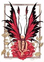 Postcard Amy Brown Gothic Fairy WILD ROSE 2001 Art Print Collectable