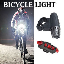 Rechargeable Led Bike Bicycle Light Flashlight Usb Cycle Front Back Headlight