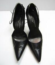 Alexander Neel Heels Slip on Shoes Leather Black Size 37 1/2  Black Pointed Toe