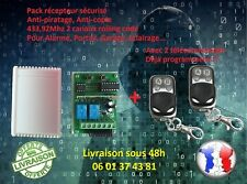 Kit récepteur Rolling code 433.92Mhz 2 canaux + 2 télécommandes