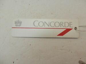 British Airways Concorde. Cabin Baggage Tag.