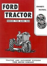 1955 1956 1957 Ford 740 950 960 Tractor Owners Manual Owner Guide Book 700-900