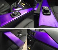 Purple Brushed Chrome Vinyl Car Wrap Stickers Decal Film Sheet Car Boat 30x152cm