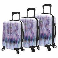 NEW Steve Madden 3 Piece Hard Case Large Luggage With Spinner Wheels