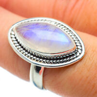 Rainbow Moonstone 925 Sterling Silver Ring Size 7.75 Ana Co Jewelry R34244F
