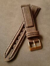 NOS Band-It 18R Brown Padded Double Stitched Calfskin Chrono Style Watch Band