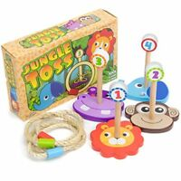 Jungle Ring Toss | Fun Wooden Family Game, Indoor/Outdoor