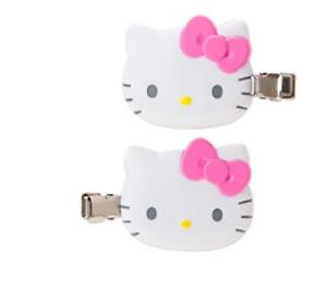 JAPAN SANRIO Hello Kitty Cat Hair Clip Bang PINK White 2pcs Accessory Beauty New