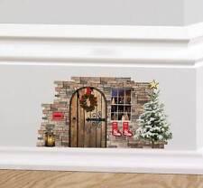 Navidad De Hadas Pixie Elf Puerta pegatinas de pared calcomanía Mono gráfico Rodapié