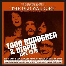 Todd Rundgren & Utopia – Live At The Old Waldorf (2015)  2CD  NEW  SPEEDYPOST