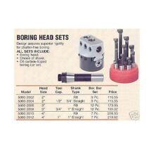 "Boring Head Set R8"" Shank 3"" Diameter 12 Pc. Bars NEW"