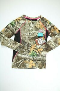 Womens Realtree Camo Moisture Wicking Performance Long Sleeve T Shirt NEW! NWT