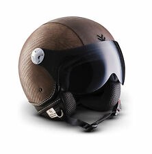 Arrow Av-84 Ranger Bobber Retro Biker Casco Demi-jet Motard Urbano Cruiser Urban