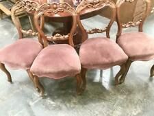 EXCELLENT SET OF FOUR CARVED VICTORIAN STYLE BALLOON BACK DINING CHAIRS