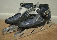 Powerslide R2 Speed Skates Boots Carbon Fiber w/ Eaglehawk Wheel Frames Size 7.5